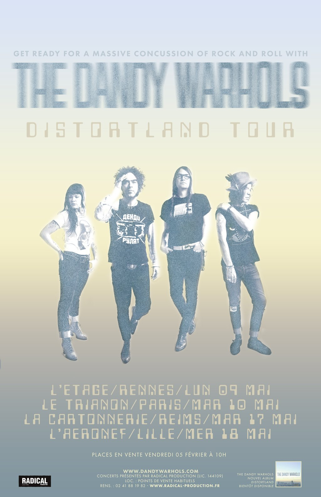 Dandy Warhols Tour 2016