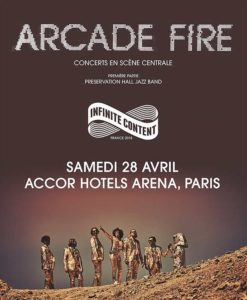 Arcade Fire Affiche Paris 2918