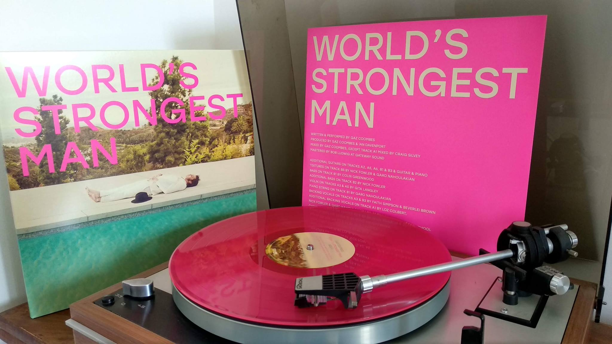 Gaz coombes worlds strongest man vinyle